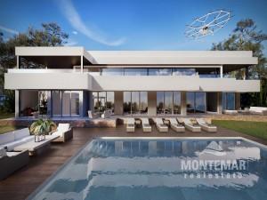 Espectacular villa en construcción con vistas al mar y al balneario en Sol de Mallorca