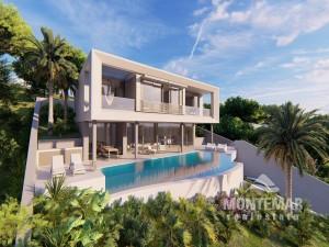 Puerto Portals - Villa de nueva construcción con impresionante piscina y vistas al mar