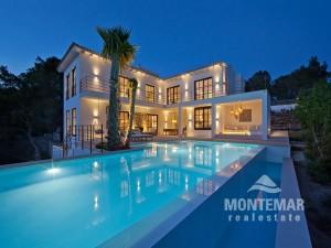 Puerto Andratx - Moderna villa con vistas panorámicas y parciales del mar