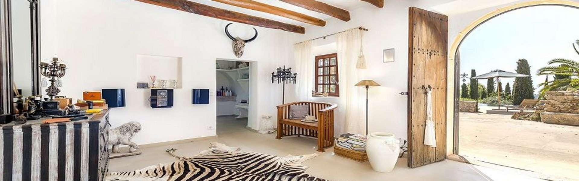 Es Carritxó - Preciosa casa de campo del ano 1833 con vistas al mar/panorámicas