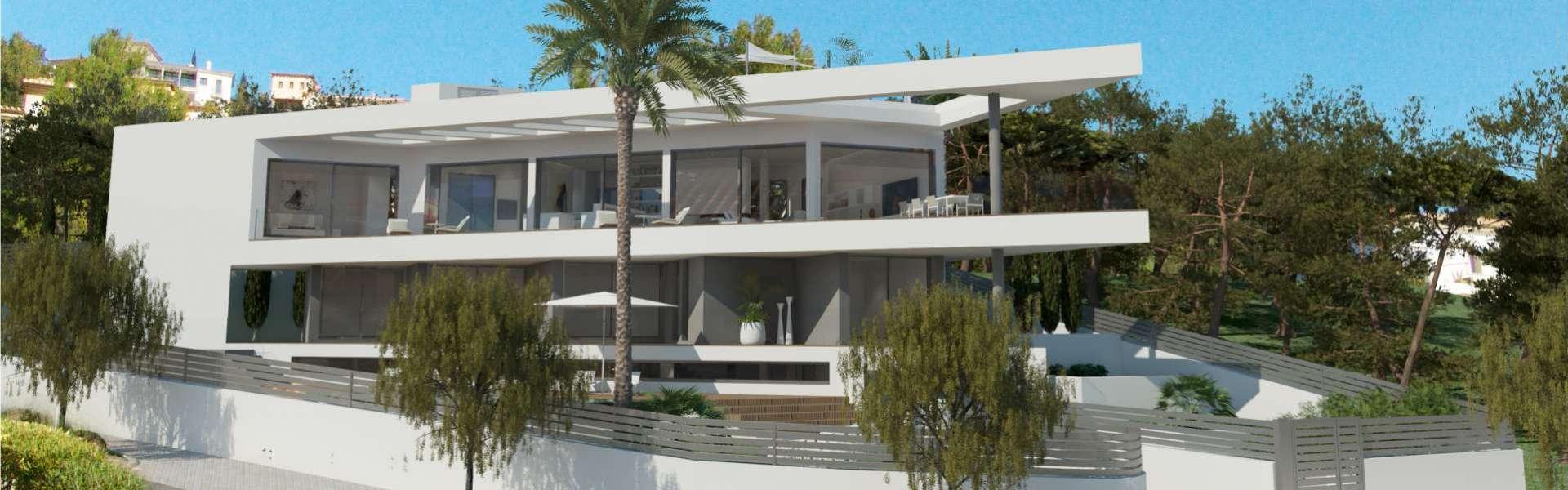 Villa moderna con vistas al mar en construcción - Santa Ponca
