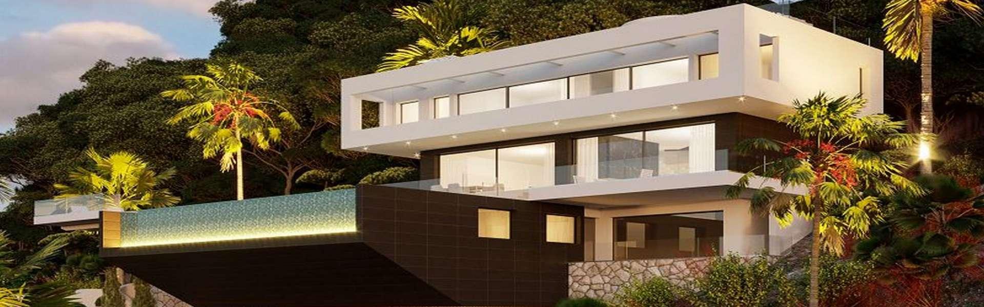 Palma/Son Vida - Villa de diseño con vistas panorámicas al mar