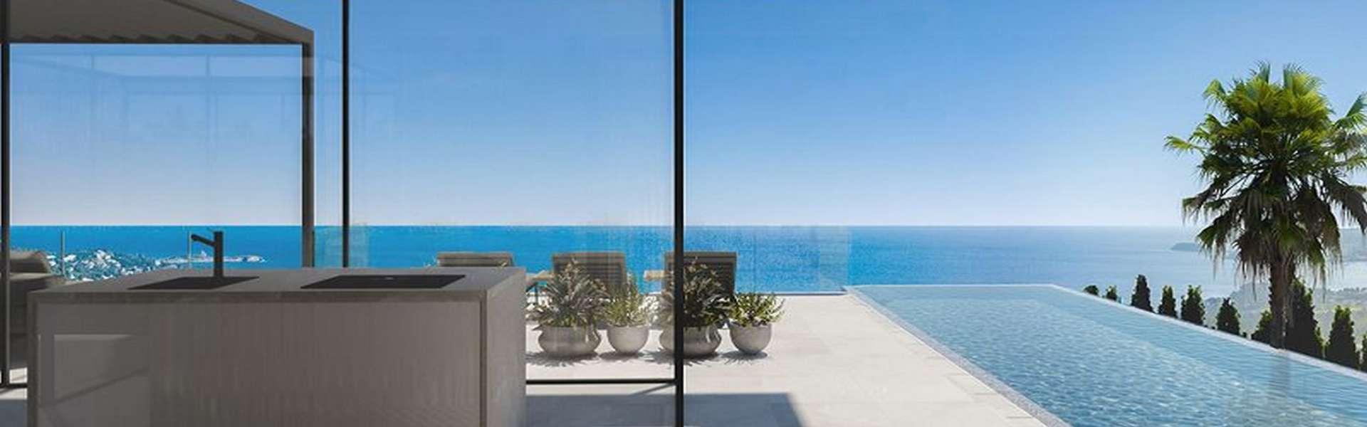 Costa d'en Blanes - TTerreno de construcción con proyecto aprobado y excelente vista al mar